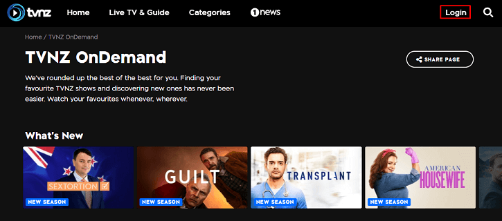 tvnz-on-demand-homepage
