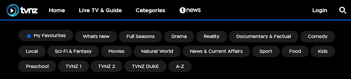 categories-section-of-tvnz