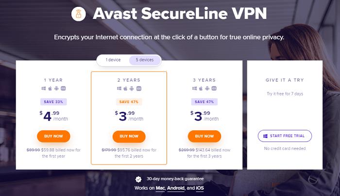pricing-plans-of-avast-secureline-vpn